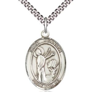 Sterling Silver St Kenneth Pendant